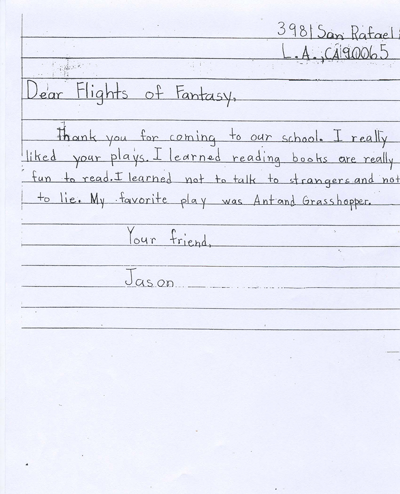 Thank you letters flights of fantasy story theater you can help expocarfo